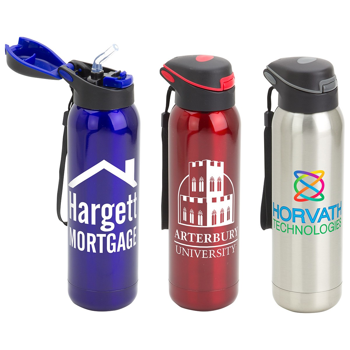 17 Oz. Stratford Pop-Top Vacuum Insulated Stainless Steel Bottle