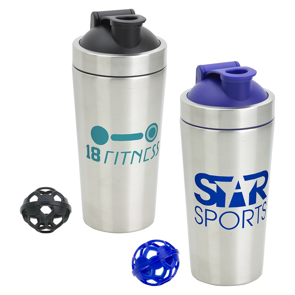 25 Oz. Pop Top Stainless Steel Shaker Tumbler
