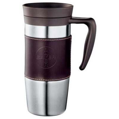 Cutter & Buck® American Classic Leather Mug 14oz