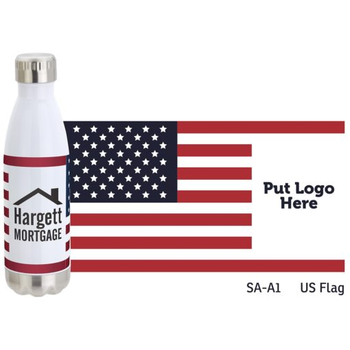 Keep 17 oz Vacuum Insulated Stainless Steel Bottle with Stock Art