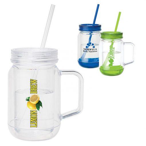 Moonshine 17 oz. Handled Mason Jar Mug