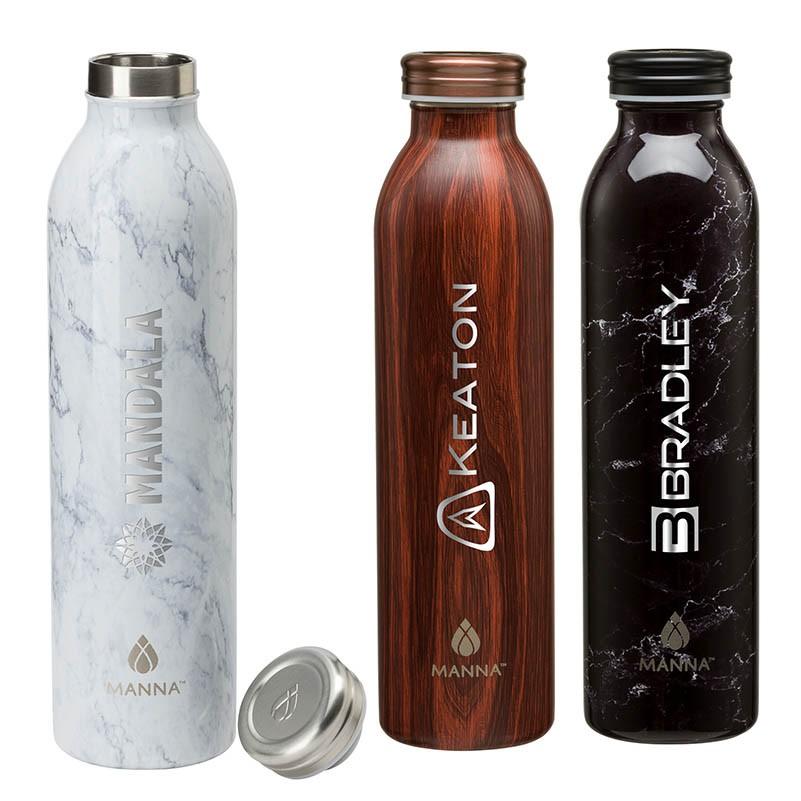50eb485f89 Manna 20 oz. Retro Stainless Steel Water Bottle | H2o Promo Bottles
