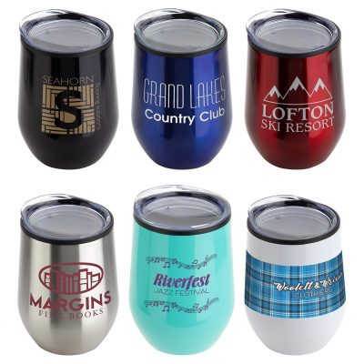 Onyx 12 oz Stainless Steel/Polypropylene Wine Goblet