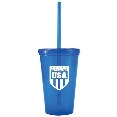 16 Oz. Bolero Double Wall Plastic Tumbler - Made in the USA