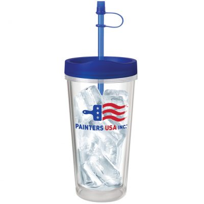 16 Oz. Clear Concept Tumbler - Made in the USA