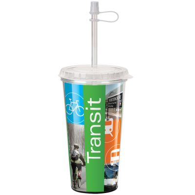 16 Oz. Full-Color Take-Out Tumbler - Made in the USA