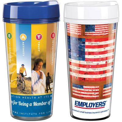 16 Oz. Full-Color ThermalTraveller™ Travel Tumbler - Made in the USA