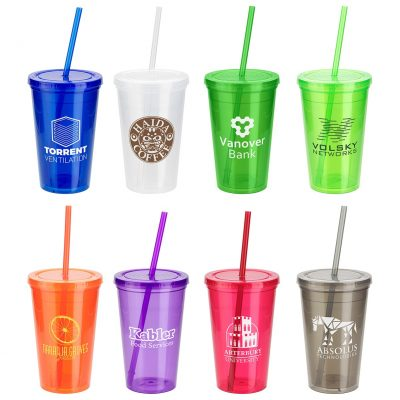 Trifecta 16 Oz. Tumbler with Lid + Straw