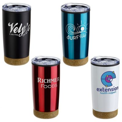 York 20 oz Stainless Steel/Polypropylene Tumbler with Cork Base