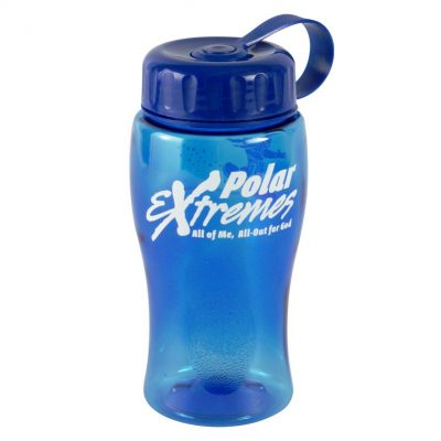 18 oz. Poly Pure Junior Sports Bottle - Tethered Lid
