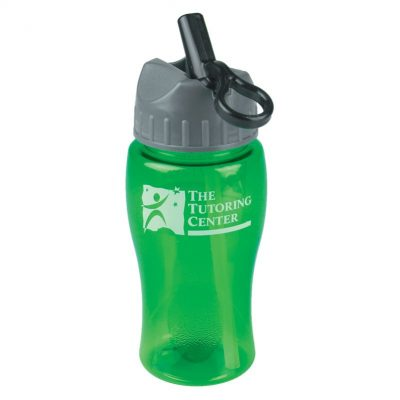 18 oz. Poly-Pure JuniorSports Bottle - Flip Straw Lid