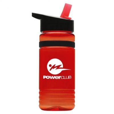 20 oz. Tritan Grip Stripe Sports Bottle - Flip Straw Handle Lid