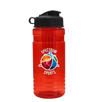 20 oz. Tritan Infuser Sports Bottle - Flip Top Lid - digital imprint