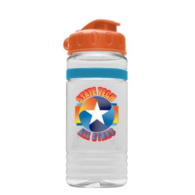 20 oz Tritan Stripe Bottle - Flip Top Lid - digital imprint
