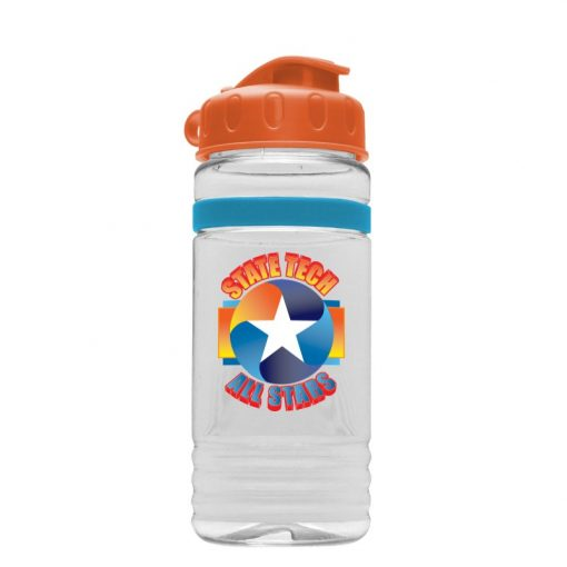 20 oz Tritan Stripe Bottle - Flip Top Lid - digital imprint