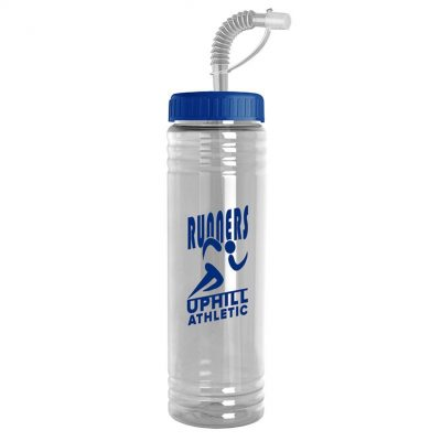 24 oz. Slim Fit Water Sports Bottle - Straw Lid