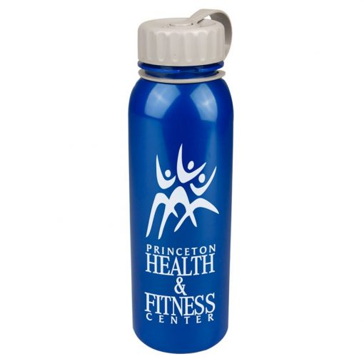 24 oz. Terrain Tritan™ Metallic Sports Bottle - Tethered Lid