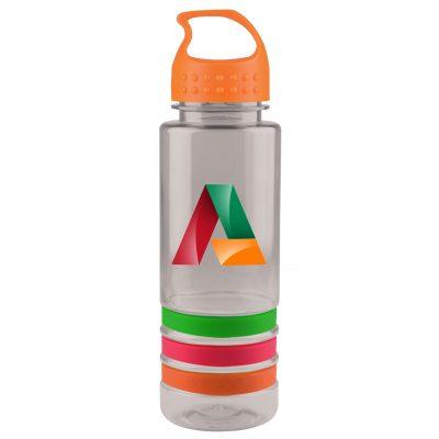 24 oz. Tritan™ Stripe Sports Bottle - Crest Lid - digital imprint