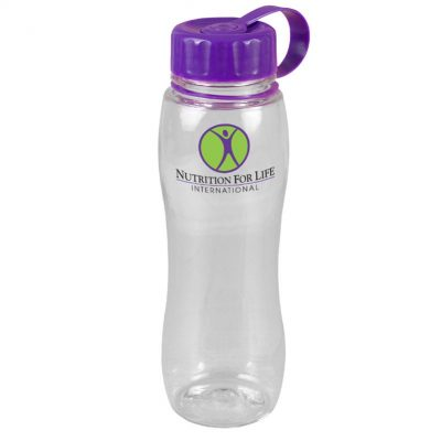 25 oz. Tritan Slim Grip Bottle - Tethered Lid
