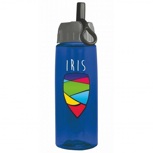 26 oz Digital Tritan Bottle - Ring Straw Lid - digital imprint