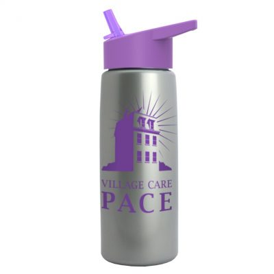 26 oz Metallic Tritan Sports Bottle - Flip Straw lid