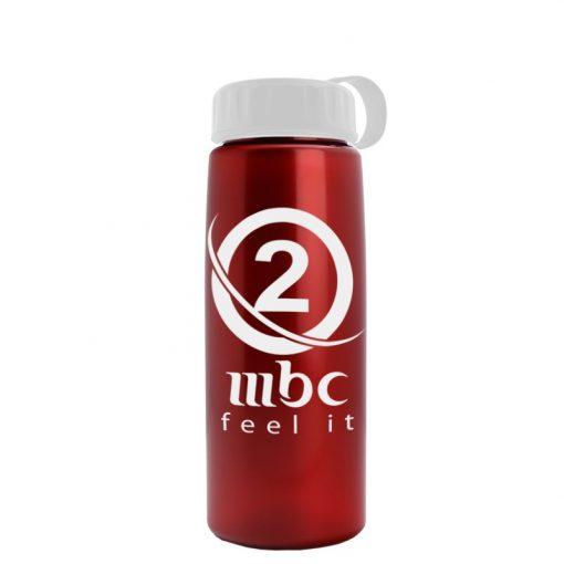 26 oz Metallic Tritan Sports Bottle - Tethered lid
