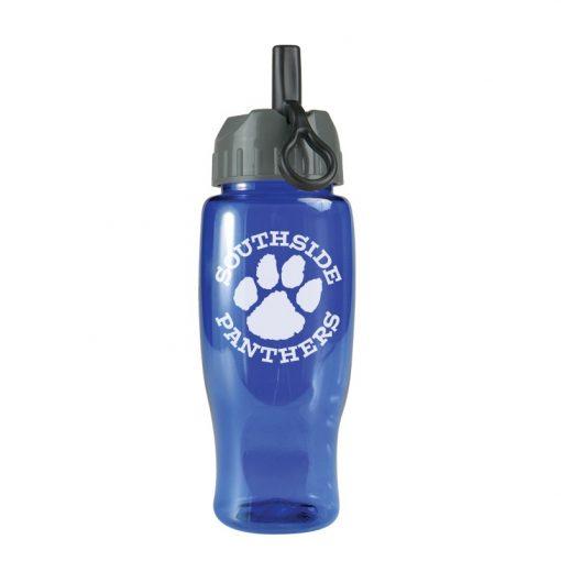 27 oz. Poly-Pure Sports Bottle - Flip Straw Lid