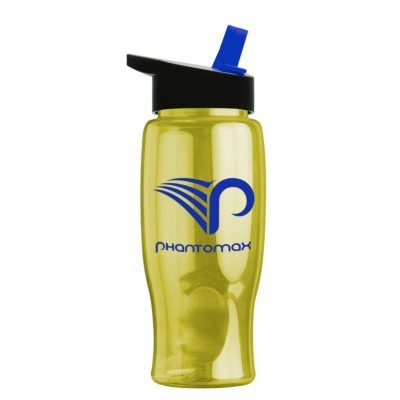 27 oz. Poly Pure Sports Bottle -Straw Handle Lid