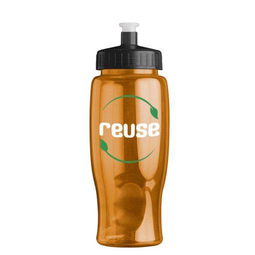 27 oz. Poly-Pure Transparent Sports Bottle -Push Pull Lid