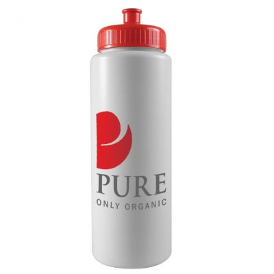 32 oz. Sports Sports Bottle - Push Pull Cap (White or Frost)