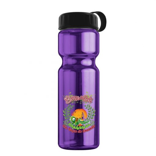 Champion 28 oz. Transparent Bottle - Tethered Lid - digital imprint