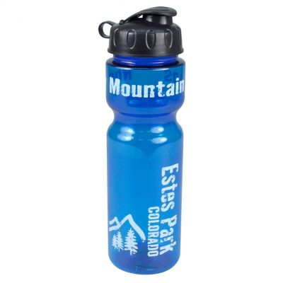 Champion 28 oz. Transparent Travel Sports Bottle - Flip Top Lid