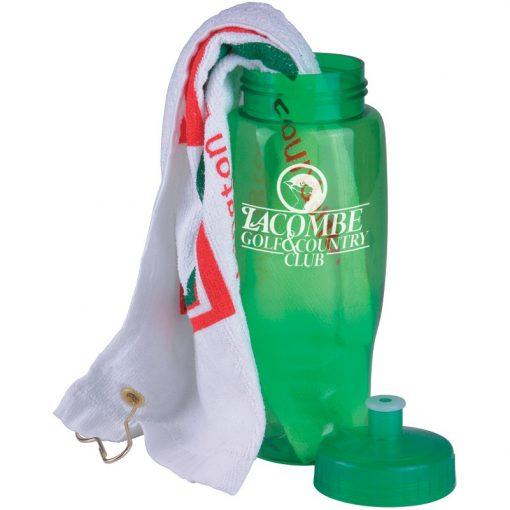 Golf Towel in a Transparent Bottle