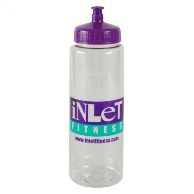 Guzzler 32 oz. Transparent Sports Bottle -Push Pull Lid