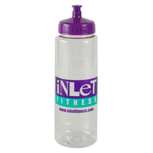 Guzzler 32 oz. Transparent Sports Bottle -Push Pull Lid