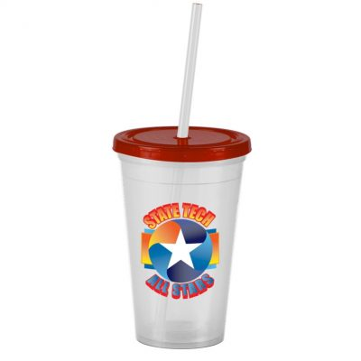 Pioneer 16 oz. Insulated Straw Tumbler - Digital Print