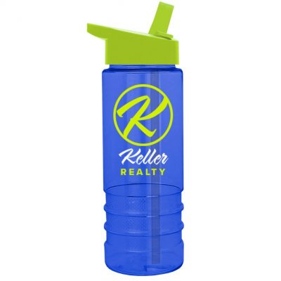 Salute-2 24 oz. Tritan™ Sports Bottle - Flip Straw Handle Lid