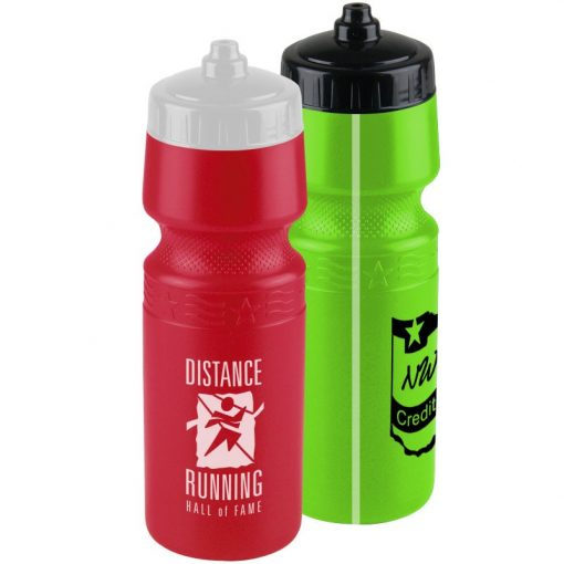 The Mighty Shot - 24 oz. Bike Sports Bottle - Valve Lid