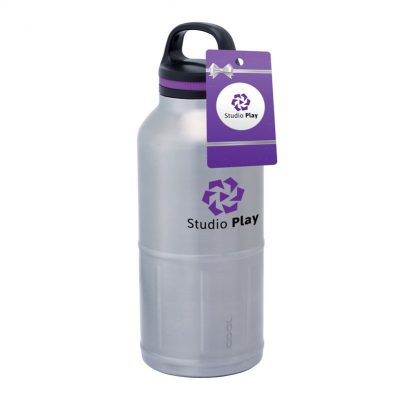 iCOOL Colossal Odin 64 oz. Stainless Steel Vacuum Water Bottle & Hangtag