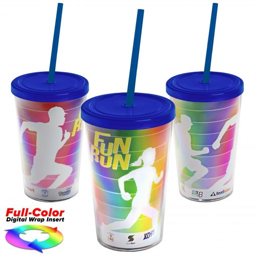 16 oz. Sentinel Tumbler with Lid & Straw