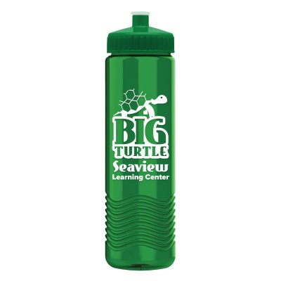24 oz Tritan Wave Bottle with Push Pull Lid