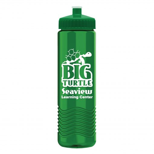 24 oz Tritan Wave Bottle with Push Pull Lid