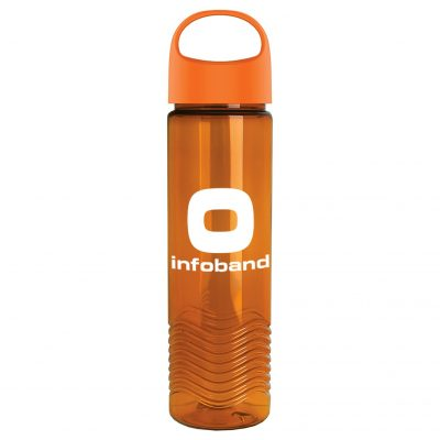 24oz Tritan Wave Bottle With Oval Crest Lid