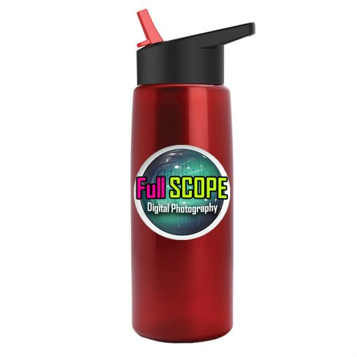 Digital Metalike Flair Bottle - Flip Straw Lid