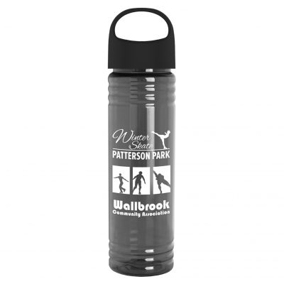 The Slim Fit - 24 oz. Transparent Bottle with Oval Crest Lid