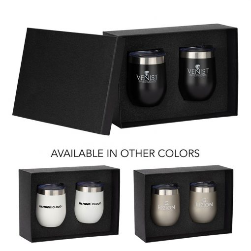 Brisbane II Two-Piece Classic Wine Tumbler Gift Set