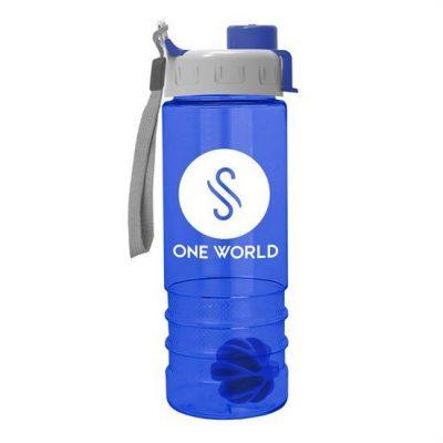 24 oz Tritan Salute Shaker Bottle - Quick Snap Lid