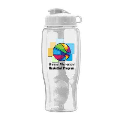27 oz. Transparent Bottle - Flip Lid - Digital