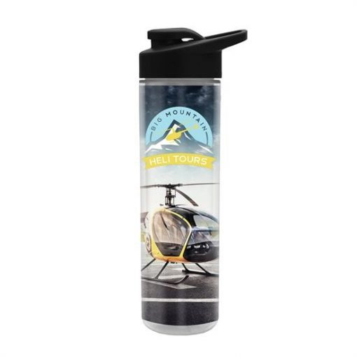 Full Color Wrap 16 Oz. Insulated Bottle with Drink Thru Lid