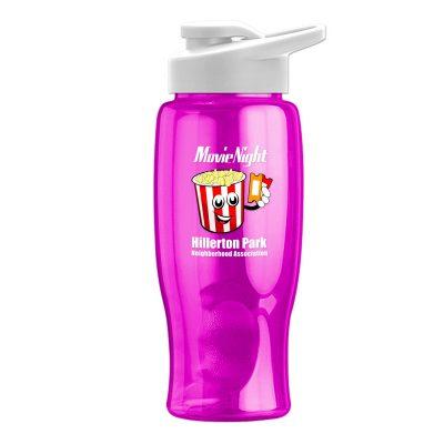 Poly-Pure - 27 oz. Bottle - Drink-Thru Lid - Digital